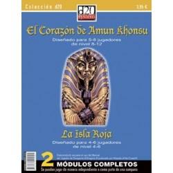 COLECCIÓN D20: EL CORAZÓN DE AMUN KHONSU+LA ISLA ROJA