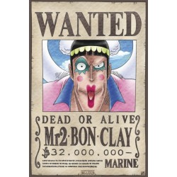 ONE PIECE POSTER WANTED Mr.2 BON CLAY